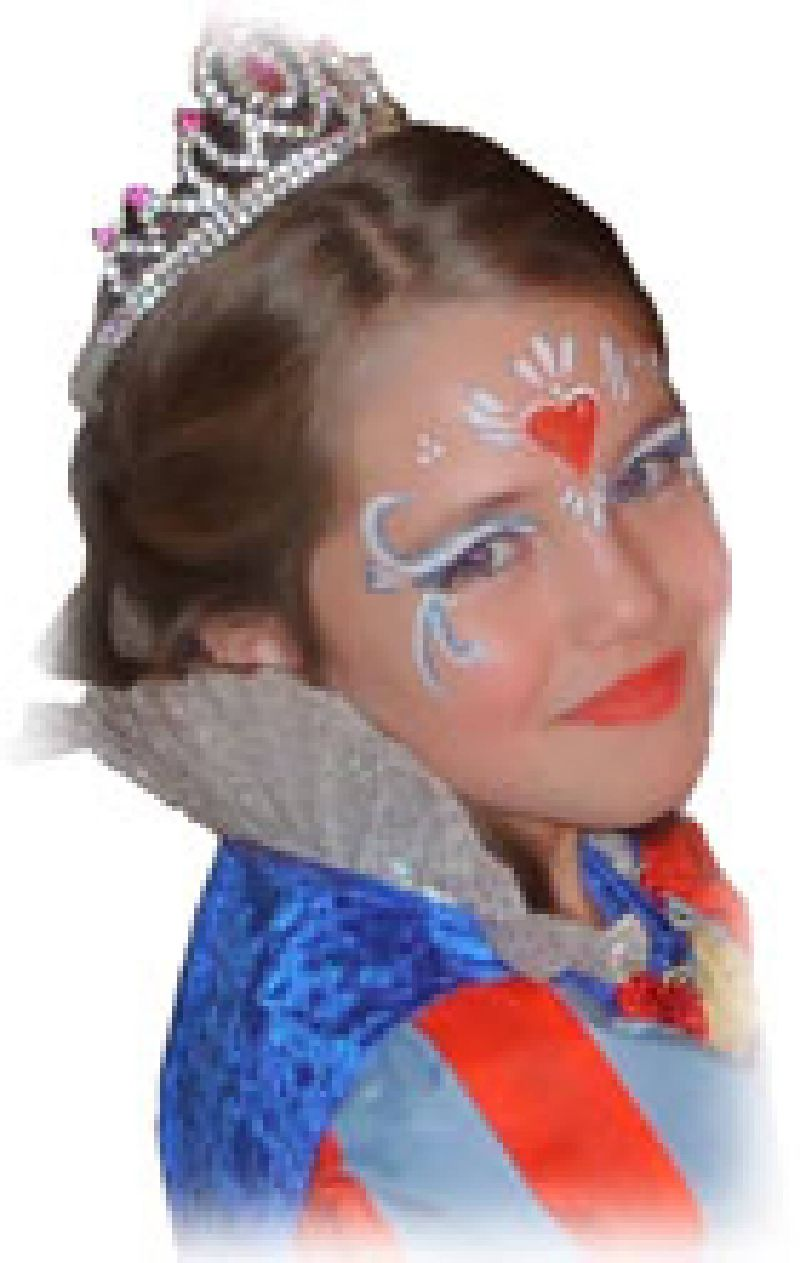 Princess party with face painting and dresses