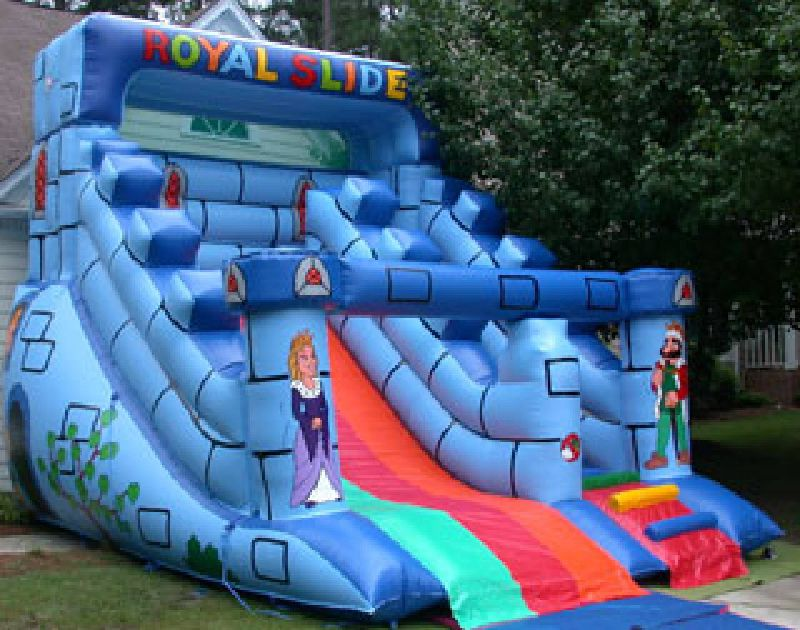 Bounce house inflatable slide in Raleigh NC
