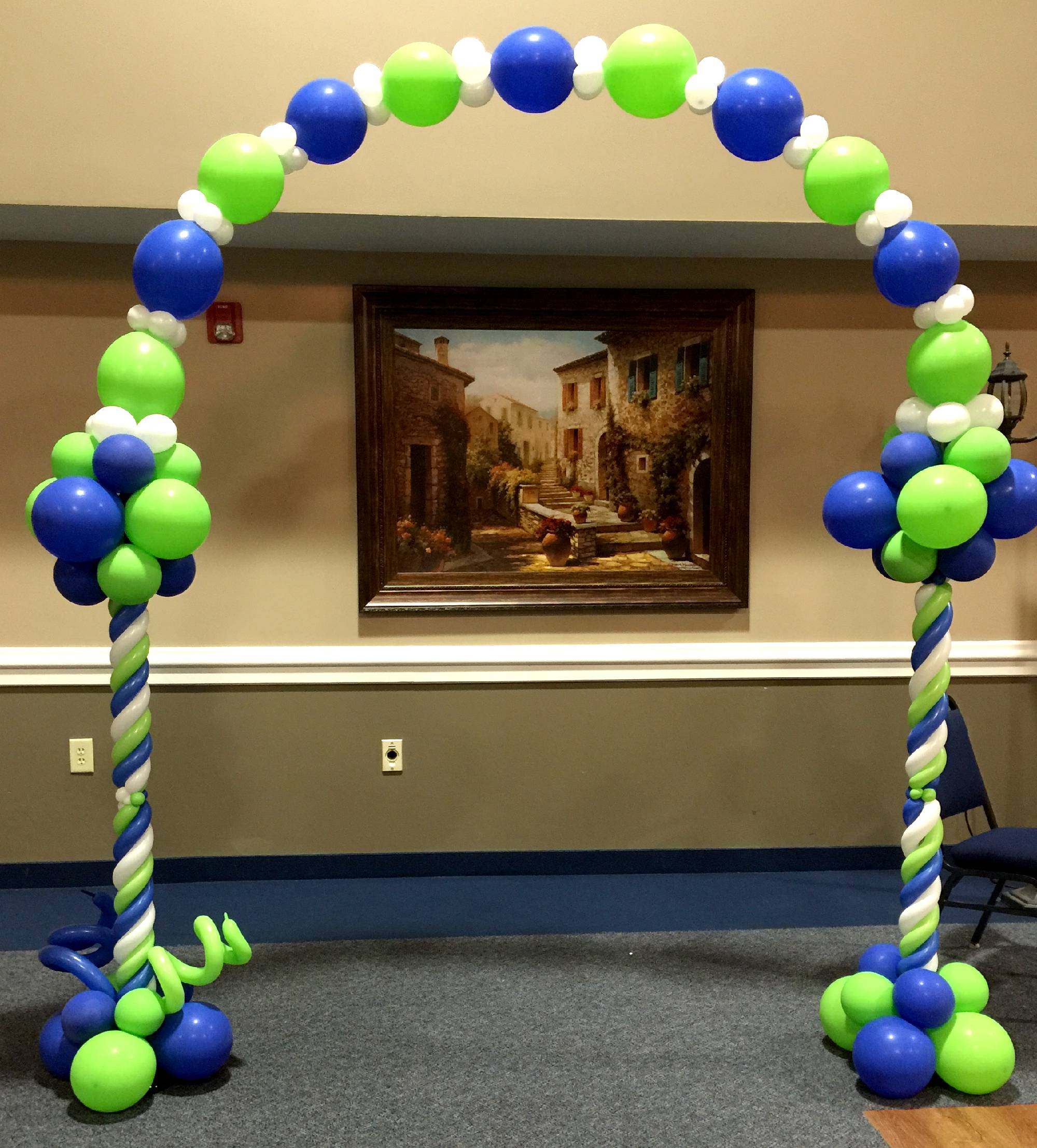 Two column balloon arch in Raleigh