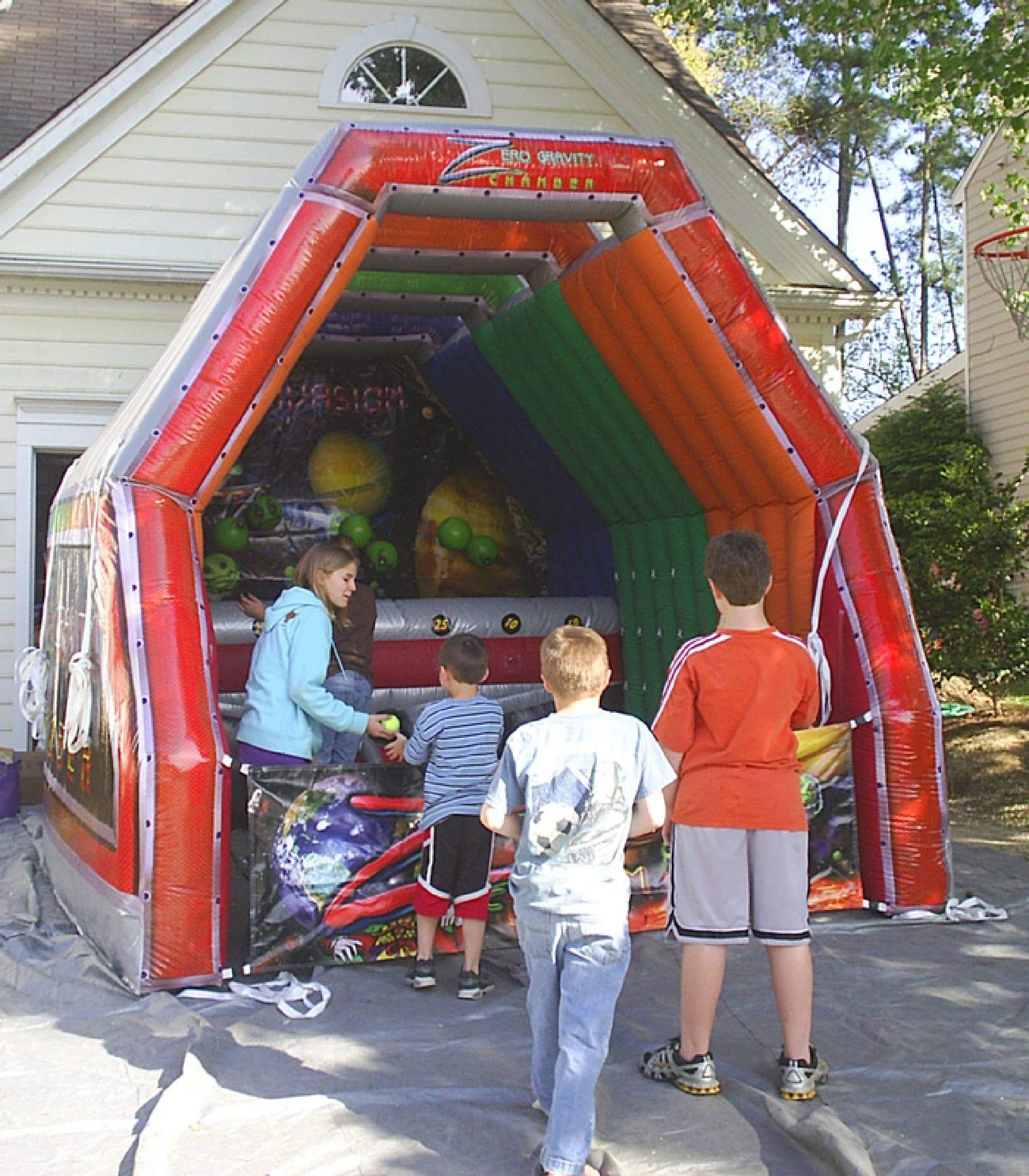 Zero Gravity Chamber inflatable game rental in