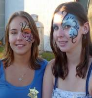 going tribal at the fair with  face painting