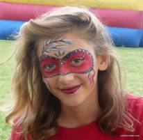 red mask face painting