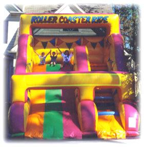 inflatable slide and bounce house rental